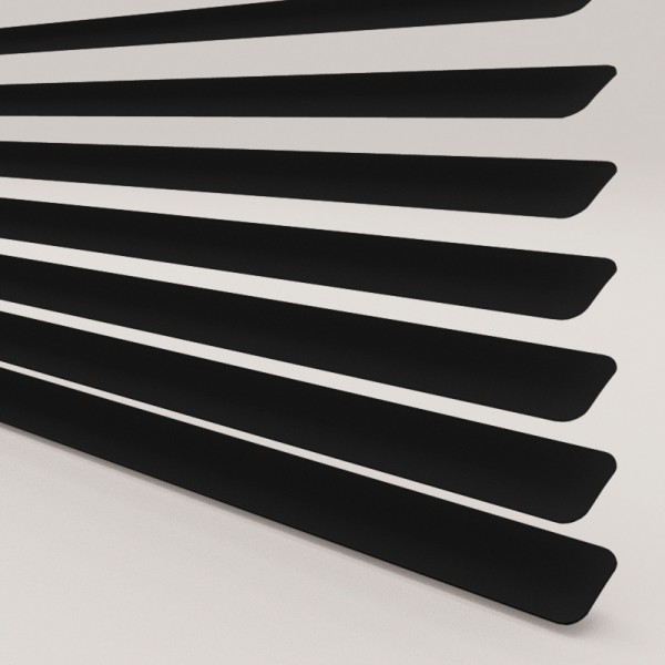 Style Studio Satin Black Venetian Blind 25mm