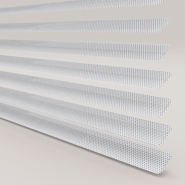 Style Studio Perforated Polar White Venetian Blind 25mm