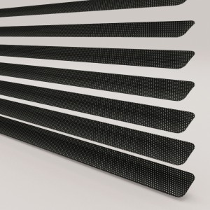 Style Studio Perforated Satin Black Venetian Blind 25mm