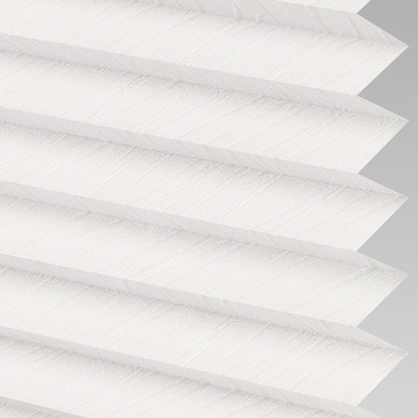Style Studio CHENILLE ASC White Pleated Blind