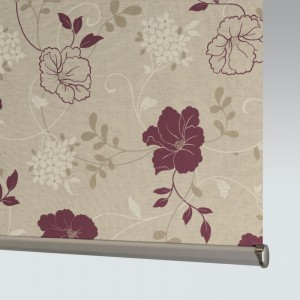 Style Studio Rose Mulberry Roller Blind