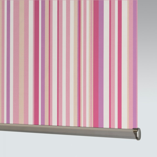 Style Studio Funky Stripe Blackout Candy Roller Blind