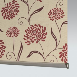 Style Studio Chrysanth Scarlet Roller Blind