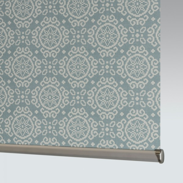 Style Studio Casablanca Smokey Blue Roller Blind