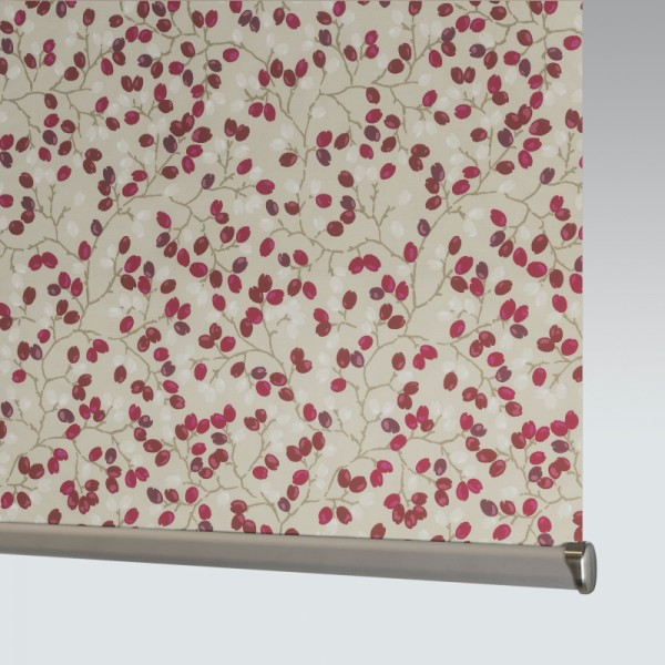 Style Studio Flourish Redcurrant Roller Blind