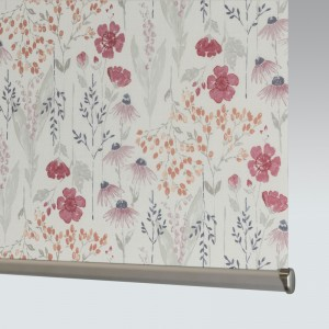 Style Studio Meadow Flower Redcurrant Roller Blind