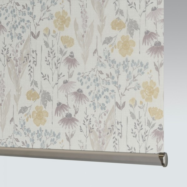 Style Studio Meadow Flower Grape Roller Blind