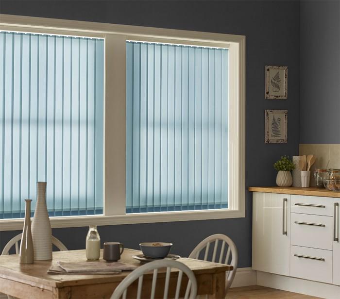 Palette Sky Vertical Blind Blue Haze Window Blinds