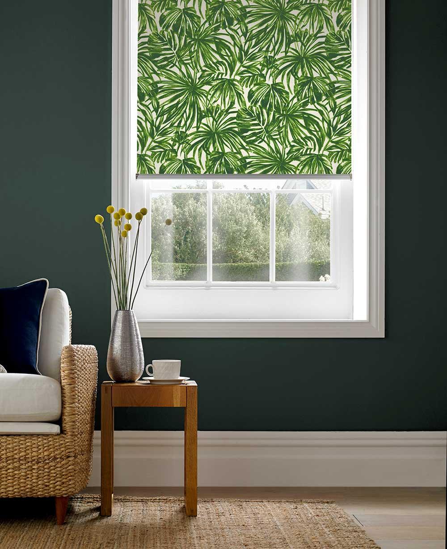 Tropics Verde Roller Blind Style Studio