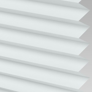 Style Studio Galaxy asc Blackout White Pleated Blind