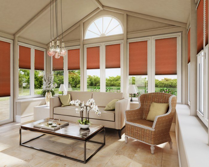 Modern Conservatory_Infusion Orange_Pleated