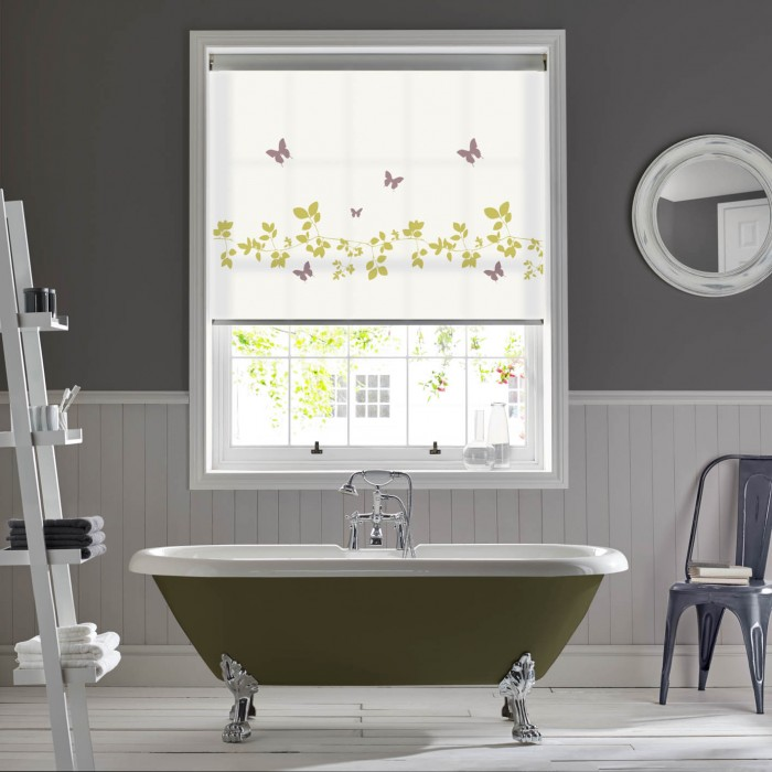 Vine and Butterfly Spring Bathroom Roller