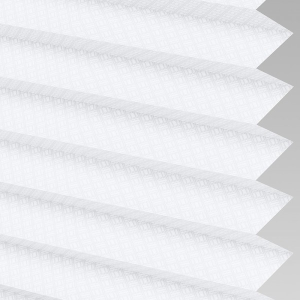 Style Studio GRID White Pleated Blind