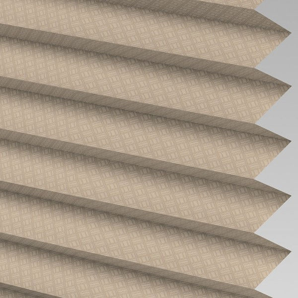 Style Studio GRID Taupe Pleated Blind
