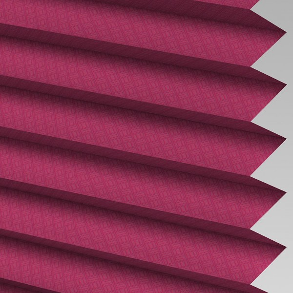 Style Studio GRID Mulberry Pleated Blind