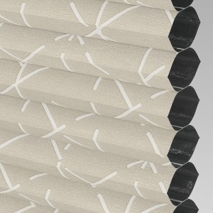 Style Studio HIVE GEO BLACKOUT Oyster Cellular Blind