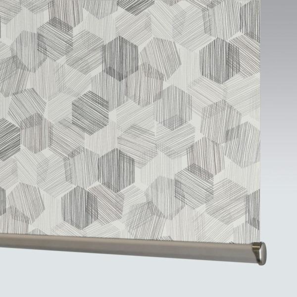 Style Studio Hexagon Grey Roller Blind