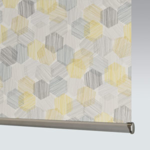 Style Studio Hexagon Yellow Roller Blind