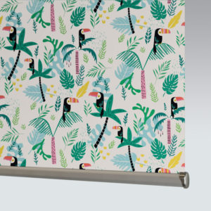 Style Studio Jungle Birds Blackout Tropics Roller Blind