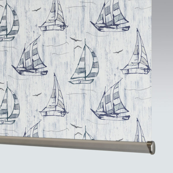 Style Studio Sailboat Blackout Blue Roller Blind