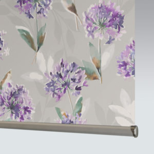 Style Studio Zinnia Blackout Purple Roller Blind