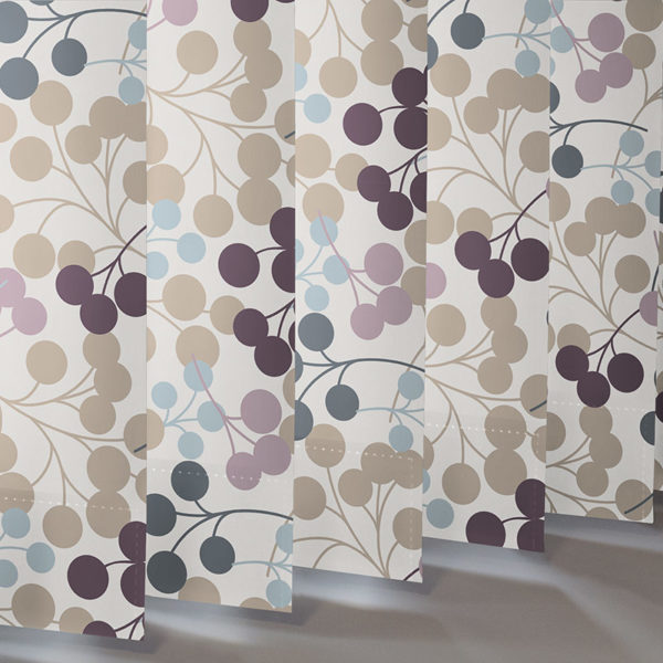 Style Studio Burst Grape Vertical Blind