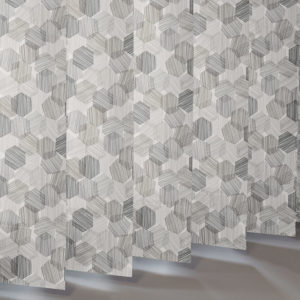 Style Studio Hexagon Grey Vertical Blind