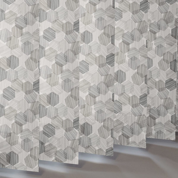 Style Studio Hexagon Grey Vertical Blind