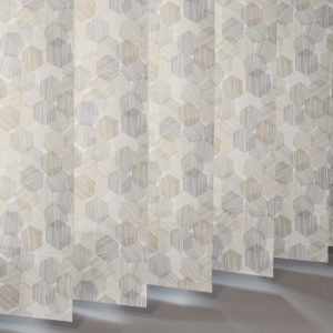Style Studio Hexagon Natural Vertical Blind