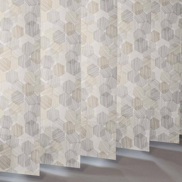 Style Studio Hexagon Natural Vertical Blind