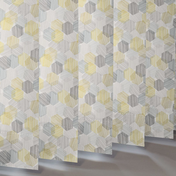 Style Studio Hexagon Yellow Vertical Blind