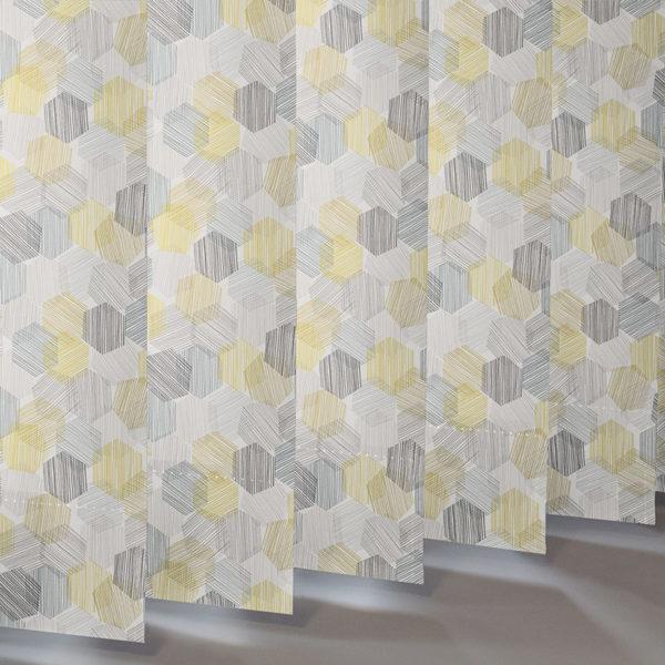 Style Studio Hexagon Yellow Vertical Blind