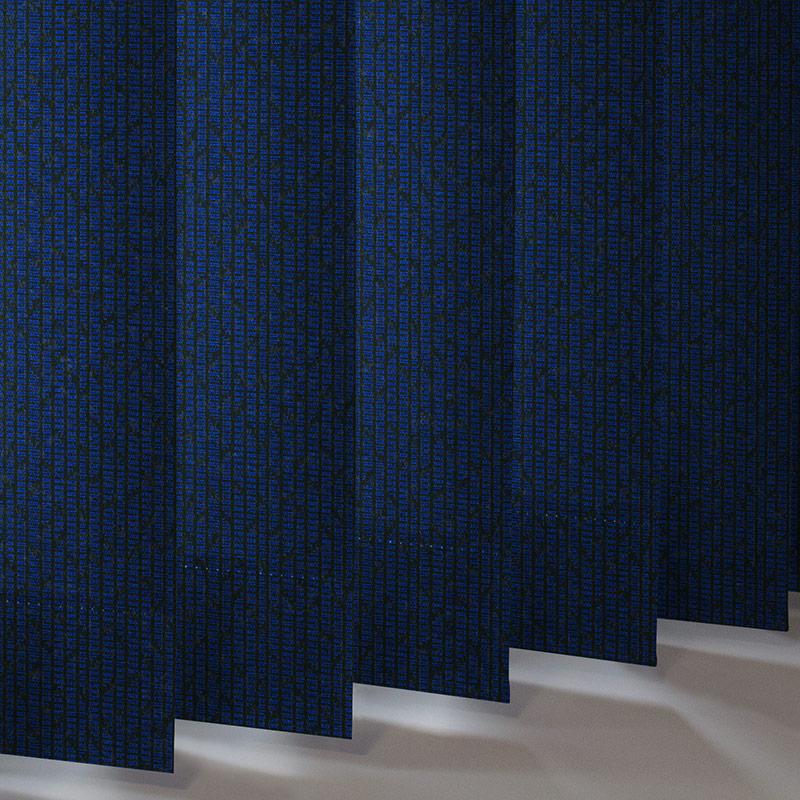 Mira Bright Sapphire Vertical Blind | Style Studio