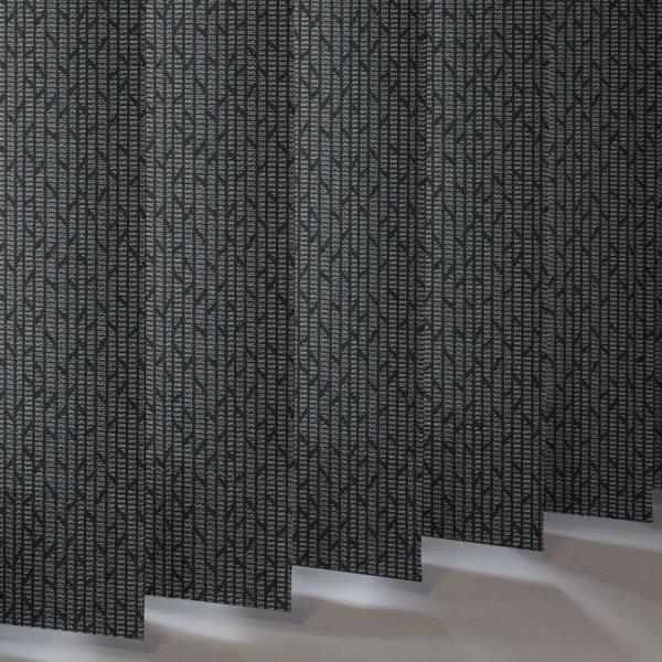 Style Studio Mira Bright Silver Vertical Blind