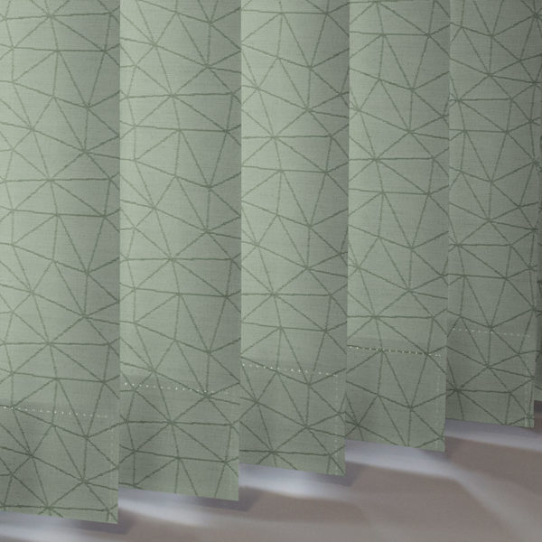 Style Studio Polygon asc Emerald Vertical Blind