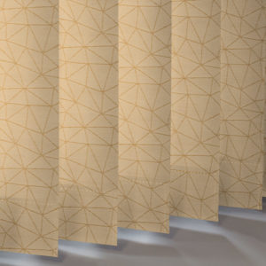 Style Studio Polygon asc Gold Vertical Blind