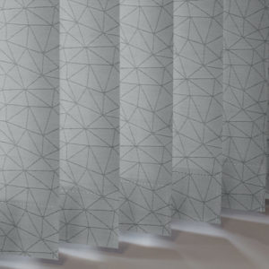 Style Studio Polygon asc Pewter Vertical Blind