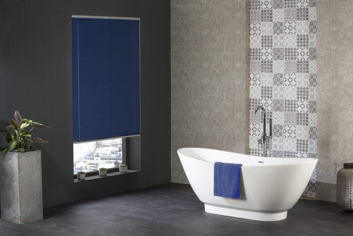 Style Studio Regal Blue Venetian Blind in modern bathroom